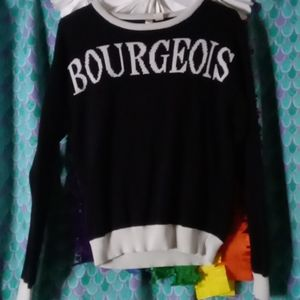 Forever 21 Bourgeois Sweater Goth Witch Punk